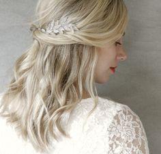 Silver Fern Hair Vine Bridal Accessory. Three Dimensional Hair Piece. Vintage Inspired Wedding Accessory. Silver Hair Accessory. by ElevenSkiesStudio on Etsy https://www.etsy.com/uk/listing/197593865/silver-fern-hair-vine-bridal-accessory