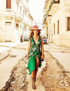 99b2c3b2f Havana Nights Theme, Havana Nights Dress, Cuban Dress, Havana Party, Green  Floral