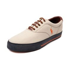 Shop for Mens Vaughn Casual Shoe by Polo Ralph Lauren in Khaki at Journeys Shoes. Shop today for the hottest brands in mens shoes and womens shoes at Journeys.com.Simple, clean, and casual. The refined-style Polo Vaughn sports a canvas upper, leather lace closure, padded collar, Polo logo side stitch, and contrast rubber sole with stripe accent. Available only online at Journeys.com! Available for shipment in February