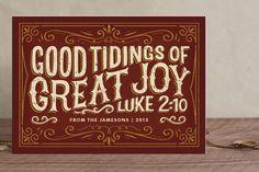 Good Tidings of Great Joy Holiday Non-Photo Cards