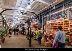 French market is popular among locals and tourists looking for New Orleans souvenirs Stock Photo