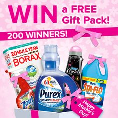 Enter for a chance to WIN the Mother's Day Gift Pack Extravaganza on Purex.com!