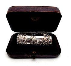 Antiques Atlas - Antique Silver Scent Bottle In Case 1897
