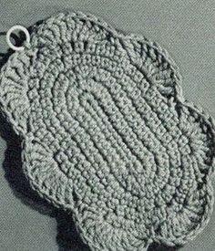 Scallop Potholder Pattern #9388 | Crochet Patterns