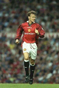 Teddy Sheringham of Man Utd in 1997.