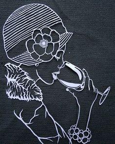 "Papierový výrez k ""Dáme I.""/Papercut for ""Lady I."" #papercutout#papercut#paper#artlovers#arte#art#instaart#instaartist"