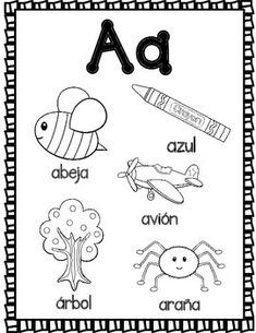 Alphabet Beginning Sounds Flip Books in Spanish Libritos