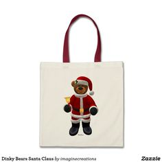 Dinky Bears Santa Claus Tote Bag