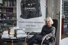 Sissel Tolaas in her studio in Berlin.