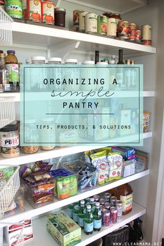 Organize your pantry in a simpler way. Love these tips!