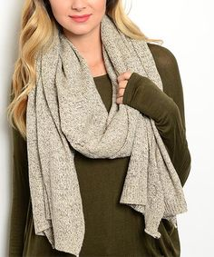 Another great find on #zulily! Khaki Scarf #zulilyfinds