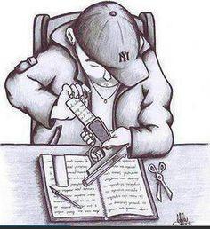 Hip hop , rap tattoo design