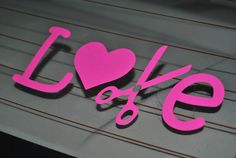 LOVE Cosmetology Car Decal made to order by DreamThread on Etsy, $7.00
