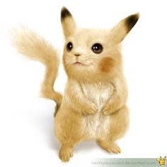 Omg. It's like a real pikachu! ..except it's not real. Lol.