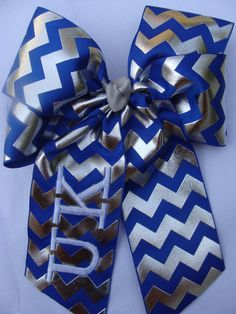 HUGE Chevron Kentucky UK Hair Bow by MaciesCustomBowZ on Etsy, $8.00