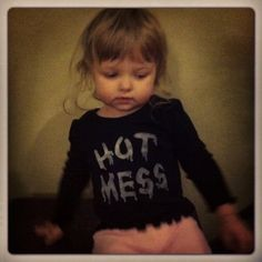 Toddler Hot Mess shirt hand stenciled made to order size 12M to 5T. $15.00, via Etsy.