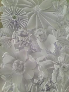 paper flowers up close