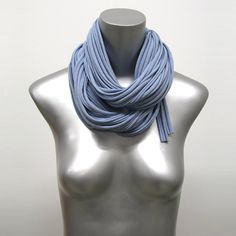 Blue Scarf Gift For Her Men's Gift Gift Ideas For Her by Necklush