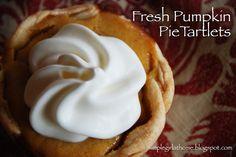 Simple Girl: Fresh Pumpkin Pie Tartlets