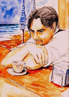"""""""Distanze sterminate"""".    Non erano ancora le otto, e nel bar di legno la macchina per fare i caffè era già pronta, in pressione, tanto che Sergio aspettava solo che lo raggiungesse il bagnino dello stabilimento balneare ancora indaffarato sulla spiaggia a sistemare le ultime cose, prima di metterci sotto le solite tazzine di ogni mattina.... (di Bruno Magnolfi - illustrazione di Giulia Tesoro)."""