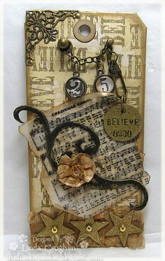 ♥ gift tags Tim Holtz style t
