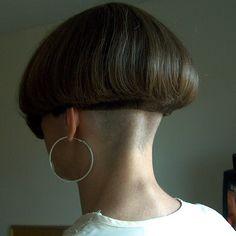 Mushroom   bowlcutzac   Flickr Boho Hairstyles, Short Bob Hairstyles, Ponytail Hairstyles, Hairstyles With Bangs, Hairstyles Videos, School Hairstyles, Everyday Hairstyles, Formal Hairstyles, Wedding Hairstyles