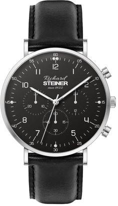 Richard Steiner Generation One Watch Brands, Gentleman, Leather, Accessories, Designer Clocks, Pointers, Leather Cord, Branding, Gentleman Style