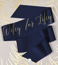 Wifey for lifey! Check out this cool handmade navy and gold hen party sash!