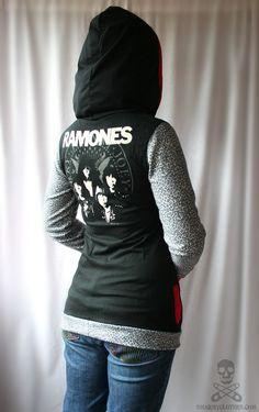 leopard Ramones zip punk hoodie  smarmyclothes by smarmyclothes, $90.00