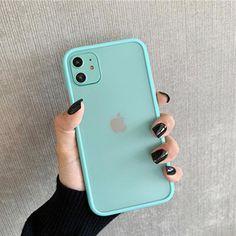 Mint Hybrid Simple Matte Bumper Phone Case - for iphone 6 6s / sky blue