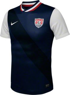 United States Soccer Navy Nike Replica Away Jersey - made from 100% Recycled Material http://www.fansedge.com/United-States-Soccer-Navy-Nike-Replica-Away-Jersey-_1249256531_PD.html?social=pinterest_3612_usa