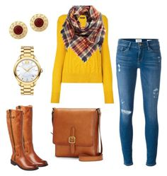 """""""Fall style"""" by sunshynemoh on Polyvore featuring Frame Denim, Isabel Marant, BP., Movado, Frye and Chocolat Blu"""