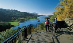 The Queen's View in Highland Perthshire overlooks Loch Tummel and is said to have been named after Queen Victoria, following her visit to the area in 1866.