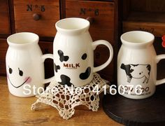 New Design Zakka Ceramic Breakfast Milk Mug Milk Cup Driking Coffee Cup mixed Design Hot Selling! C2009-in Mugs from Home & Garden on Aliexpress.com