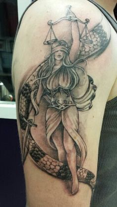 lady justice tattoos | Justice Arm Tattoo By Rudy Beth J Elzemeyer Finest 916 331 8287