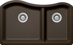 SCHOCK ASHN175U087 ASH Series CRISTADUR 70/30 Undermount Double Bowl Kitchen Sink, Bronze