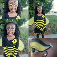 Bumble bee makeup #DHBEAUTY #Psalms50n2 www.instagram.com/dhbeautyful