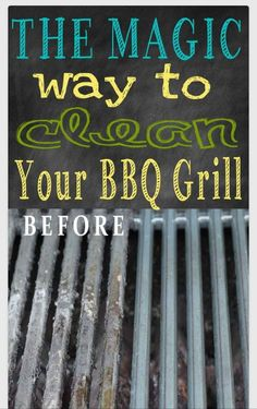 """ The Magic Way To Clean Ur BBQ Grill"" #Home #Garden #Trusper #Tip"
