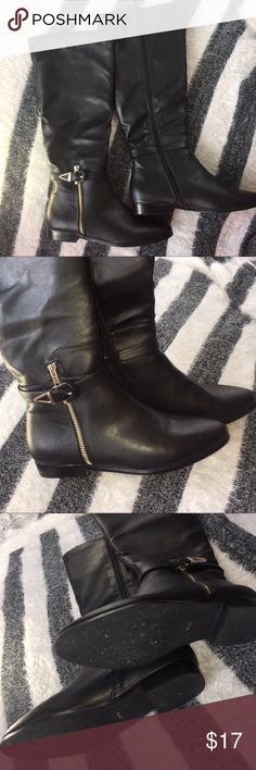 ✖️ImpoStretch✖️ BOOTS‼️ Black Riding Boots Very Well Taken care of! These are 7 1/2 will easily fit a 7. No scratches!! ImpoStretch Shoes