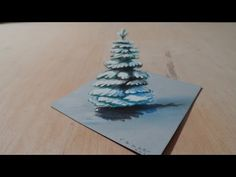 Drawing Snowy Pine, Tree Illusion - YouTube