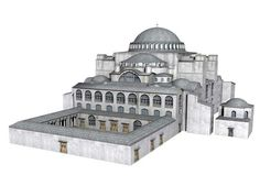 Hagia Sophia Basilica - The Hagia Sophia is the most important surviving work of byzantine architecture in Byzantium. It was first built in the fourth century and inaugurated in 360. After a fire in 404 it was replaced by the second church which burned again in 532.