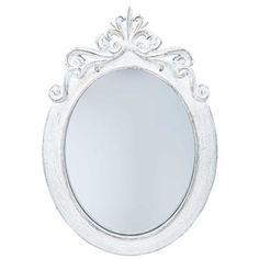 Distressed White Styrene Ornate Oval Mirror | Shop Hobby Lobby