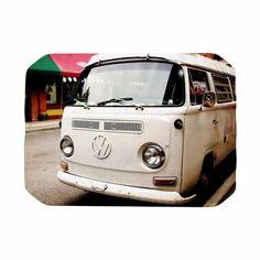 "Angie Turner ""VW Bus"" White Vintage Place Mat"