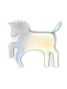 Shop Silver Holographic Unicorn Clutch Bag from choies.com .Free shipping Worldwide.$19.9