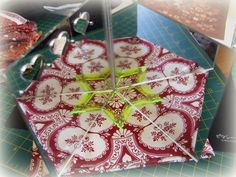 """Every Stitch: """"When Stars meet Hexagons"""" a great hint using a bifold mirror for fussy cut planning."""