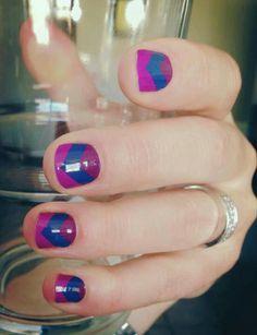Purple diamond nail wraps