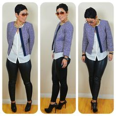 OOTD: #JCrew Jacket + Faux Leather Leggings