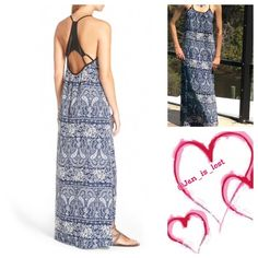"SALE Maxi Dress Small Hippie-chic paisley dress with an updated look featuring a sleek suspended racerback detail.  Dress is approximately 57"" long. Dress is a size small fit is for a woman's 0-2 or juniors 3-5.  100% polyester.  No Trades✅ Offers Considered*✅ *Please use the blue 'offer' button to submit an offer. Mimi Chica Dresses Maxi"