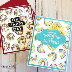 Concord & Rainbow Turnabout Brighter Days Are Ahead Rainbow Card, Love Rainbow, Cute Cards, Easy Cards, Concord And 9th, Scrapbook Cards, Scrapbooking, Card Companies, Paper Pumpkin