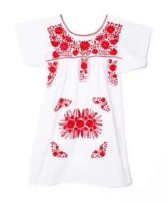 Red & White Mexican Tunic